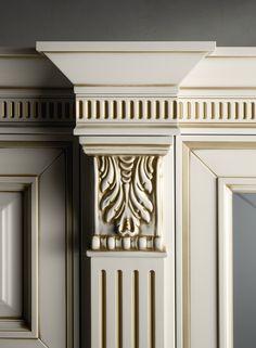Wood Cornice, Cornice Design, Wood Front Doors, Wooden Doors, Pillar Design, Door Design Interior, Wooden Door Design, House Front Design, Moldings And Trim