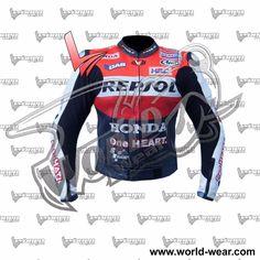 Marc Marquez One Heart Motorbike Leather Jacket MLJ-786221021 #WorldWear