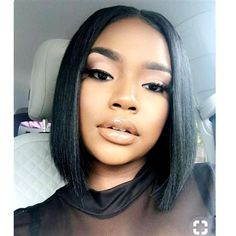 sales online with Lace Front Wig Short Bob Wigs for Black Women Full Lace Front Wigs Silky Straight Human Hair Bob Short Pixie Cut Wig fast shipping worldwide. Sew In Hairstyles, Cool Short Hairstyles, Black Hairstyles, Beautiful Hairstyles, Hairstyles Pictures, Hairstyles 2018, Short Bob Wigs, Short Hair Cuts, Superkurzer Pixie