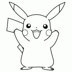 #Pikachu alegre en formato #dibujo Naruto Drawings Easy, Easy Cartoon Drawings, Cute Little Drawings, Anime Drawings Sketches, Easy Drawings, Horse Coloring Pages, Cute Coloring Pages, Cartoon Coloring Pages, Pokemon Coloring Sheets