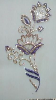 Introduction to Tambour Beading with Karen Torrisi from London - Salvabrani Zardozi Embroidery, Pearl Embroidery, Tambour Embroidery, Bead Embroidery Patterns, Hand Work Embroidery, Couture Embroidery, Bead Embroidery Jewelry, Silk Ribbon Embroidery, Hand Embroidery Designs