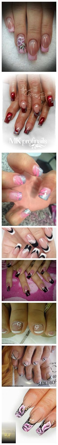 Nail Art Ideas and Designs I LOVE this nail shape! Frensh Nails, Hot Nails, Hair And Nails, Manicures, Fabulous Nails, Gorgeous Nails, Pretty Nails, Cute Nail Designs, Nail Polish Designs