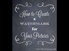 How to Watermark Photos Using PicMonkey | Watermarking Photos