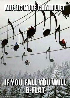 Music note chairlift