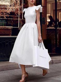 Beliebte weiße gekräuselte unregelmäßige Abendkleid - elegant evening gowns - Source by elegantpinbaby classy dress Dresses Elegant, Pretty Dresses, Sexy Dresses, Beautiful Dresses, Casual Dresses, Fashion Dresses, Dresses For Work, Summer Dresses, Formal Dresses
