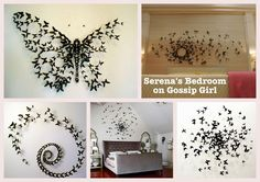 bedroom idea... can recycle toilet paper rolls spray painted black