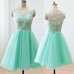 Charming Prom Dress,Mint Green Tulle Prom Dress with