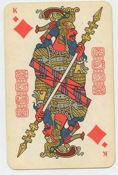 designed by an unknown soviet artist  mayan ?based playing cards,enchanted and weird