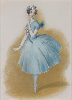 """Alfred Edward Chalon (1780-1860) Marie Taglioni in """"La Sylphide"""""""