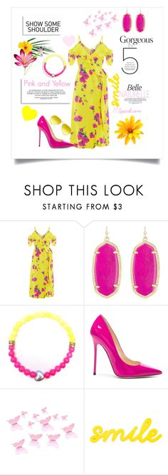 """""""You Are My Sunshine"""" by shop77spark ❤ liked on Polyvore featuring Kendra Scott, Jimmy Choo and Ray-Ban"""