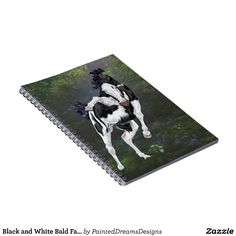 Black and White Bald Face Overo Paint Horse Notebook