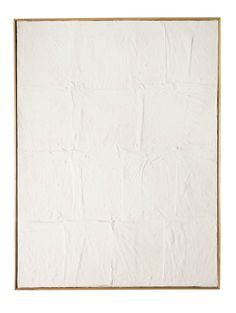 """Piero Manzoni [Italy] (1933-1963) ~ """"Achrome"""", 1958-1959. China-clay on canvas. 