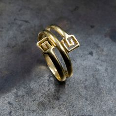 Excited to share the latest addition to my #etsy shop: 14k Solid Gold Greek Twist Ring, Greek Key Ring, Handmade Twist Grecian Ring, Greek Jewelry Symbolic Infinity Statement Ring, Ancient Greece Greek Jewelry, Twist Ring, Geometric Necklace, Small Earrings, Minimalist Necklace, Greek Key, Ancient Greece, Gold Bands, Statement Rings