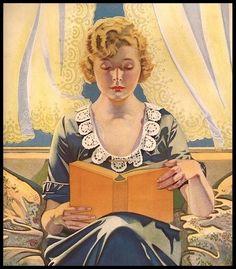 Coles Phillips, 1920 - Detail from Scranton Lace Curtains advertisement