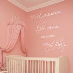 """Adesivo Murale - You Are Everything. Quando la casa accoglie un neonato...  Adesivo murale di alta qualità con pellicola opaca di facile installazione. Lo sticker si può applicare su qualsiasi superficie liscia: muro, vetro, legno e plastica.  L'adesivo murale """"You Are Everything"""" è ideale per decorare la cameretta. Adesivi Murali."""