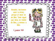 """Semana 7  MARTES  Versículo Diario. -Somos Perdonados-    """"Amados hijos míos, debemos amarnos unos a otros, porque el amor viene de Dios. Todo el que ama es hijo de Dios, y conoce a Dios."""" 1 Juan 4:7 TLA               #SomosPerdonados #AmaaDiosGrandemente #ADGninos #DevocionalesparaNinos #EstudioBiblicoenLinea #ComunidadADG #LGG"""