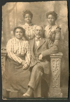 Black Man Daughter Girls 1800s Vintage African American Photo