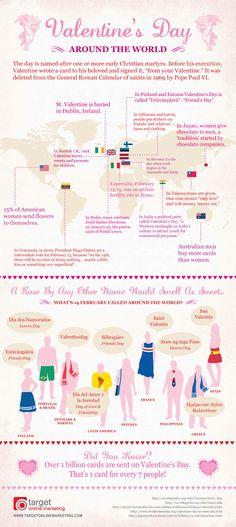 Fun Facts around the World about #Valentine'sDay