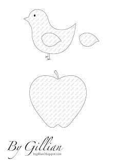 free bird and apple applique patterns