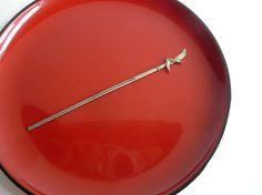 Antique kanzashi - hair ornament - metal - polearm and sickle - WhatsForPudding