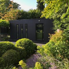 "Charlotte Rowe on Instagram: ""A favourite #gardenbuilding we designed for a #garden in Surrey. Our client wanted a sound-proofed building as a #drumroom and we decided…"" Garden Buildings, Garden Structures, Drum Room, Black Garden, Garden Studio, Backyard, Patio, Enchanted Garden, Interior Exterior"