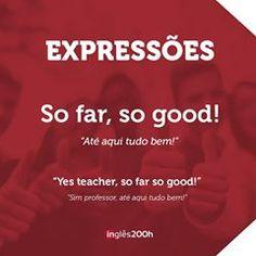 """Hey guys! 💖 A expressão """"so far so good"""" em inglês significa """"até aqui, tudo bem"""" e pode ser utilizada em diversas situações. 😉 Today's challenge: escreva uma frase utilizando a expressão """"so far so good"""". #ingles200horas #ingles200h #ingles #dicasdeingles #english #sarascarcelli #pronuncia #pronunciation #tips #vocabulario #vocabulary #grammar #sofarsogood #good"""
