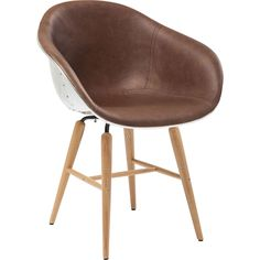 KARE Design Forum Soho Brown Chair with Armrest