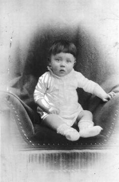 Very little Adolf Hitler.  Very creepy to think how this baby grew up to create so much evil and havoc in this world.