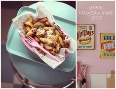 Recipe for garlic parmesan baked fries.  Follow me on Instagram @passionforbaking  #garlic #parmesan #baked #fries #diner #dinner #food