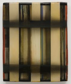 Stefan Annerel ETIVE 2012 Acrylic paint, resin and glass on wood 52 x 42 cm