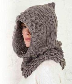 gorros femininos de croche com capuz Gorro De Croche Feminino e9564048702