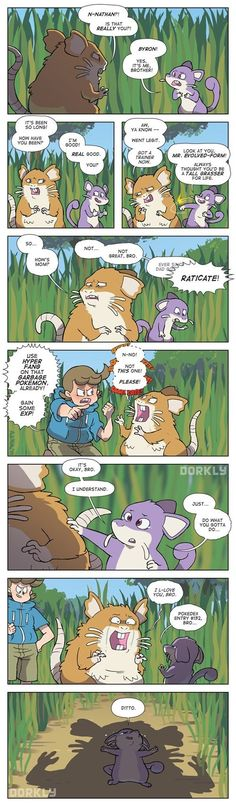 Rattata Family Reunion- sometimes I wondered if my Pokemon ran into family members in the same tall grass they were caught in….