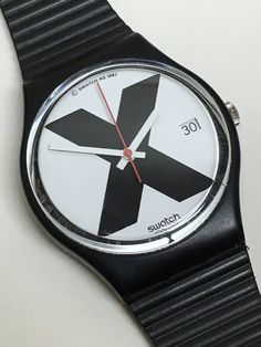 Vintage Swatch Watch X-Rated GB406 1987 Near Mint by ThatIsSoFunny
