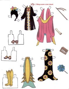 Dresses for Disney's Mulan paper dolls, Portuguese (6  of 9) | Naver Blog | 여장을한 무슈라니.. 생각만으로도 넘귀엽겠죠? ㅎㅎ