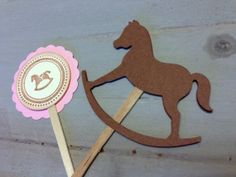 Vintage Baby Girl Rocking Horse Baby Shower by papermeblossom, $10.00