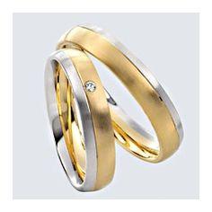 Verighete cu briliante, din aur alb cu aur galben. Saints, Wedding Rings, Engagement Rings, Aur, Twin, Jewelry, Boyfriends, Diamond, Enagement Rings