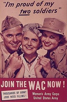 """I'm in this war too!"" – A Collection of 48 Popular U. Army Women's Recruiting Posters During World War II Vintage Ads, Vintage Posters, Vintage Advertisements, Women's Army Corps, Pinup, Ww2 Propaganda, Army Women, Ww2 Women, Ww2 Posters"