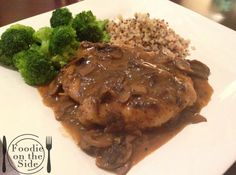 Chicken Marsala - a classic comfort dish of tender chicken breasts in a savory mushroom and Marsala wine sauce. http://www.foodieontheside.com/chicken-marsala/