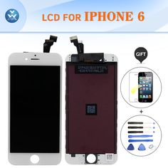 AAA brand new LCD assembly for Iphone 6 touch screen display digitizer complete set mobile pantalla black white 4.7'' LCD