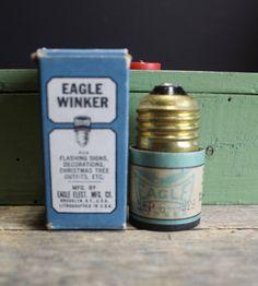 Vintage 1920s Eagle Winker Screw-In Socket // Flasher Blinker // No. 475 // Working by MyBarn on Etsy