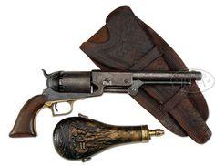 Oricinal 1847 Colt Walker Revolver w/ Holster & powder flask Mexican American War, Revolver, Rifles, Wild West, Hand Guns, Flask, Weapons, Powder, Action
