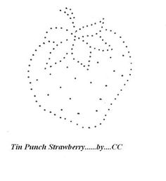 Tin punch pattern - strawberry.  Perfect for candlewicking, too!