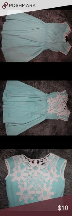 Teal Dress With Lace Back Super comfortable but still looks nice! Dresses Mini