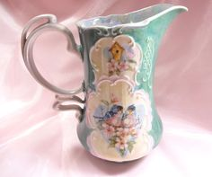 Victorian Pitcher Hand Painted by VictoriannaCharmers on Etsy