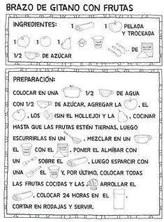 Menta Más Chocolate - RECURSOS PARA EDUCACIÓN INFANTIL: Lecto-escritura: Recetas para niños (Pictogramas)