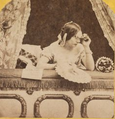 """""""""""Scene at the Opera"""". American (NY), ca. 1860. Stereograph card (detail). Library of Congress."""""""
