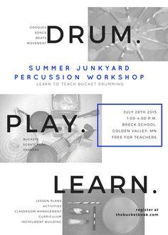 Summer Bucket Drumming Workshop
