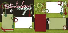Wintertime Magic Page Kit Baby Girl Scrapbook, Disney Scrapbook, Scrapbook Paper Crafts, Scrapbook Cards, Paper Crafting, Christmas Layout, Christmas Scrapbook Layouts, Scrapbook Page Layouts, Scrapbooking Ideas