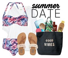 """Summer date contest"" by jsigmon03 ❤ liked on Polyvore featuring Talitha, Forever 21, Topshop, Kate Spade, Ray-Ban, Venus, Dorothy Perkins, Billabong, beach and summerdate"