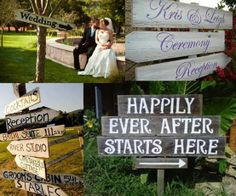 Wedding signs - Click image to find more Weddings Pinterest pins
